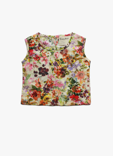 Vierra Rose Callie Crop Top in Spring Blossom - FINAL SALE