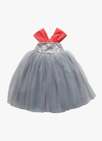 Vierra Rose Chantal Party Dress in Silver Grey - D3013