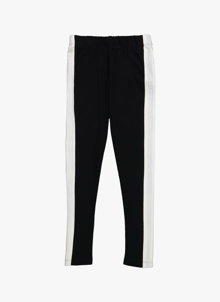 Vierra Rose Christiano Track Legging Pants in White Stripe - FINAL SALE