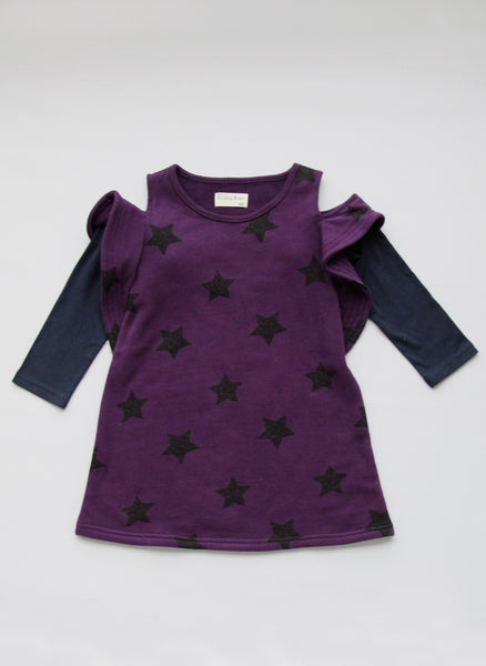 Vierra Rose Colette Dress in Grape Star - D3015 - FINAL SALE