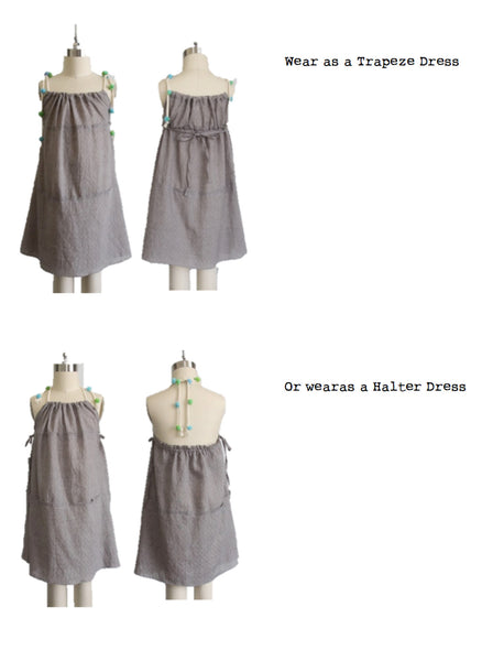 Vierra Rose Daria Two-Way Dress in Chambray - FINAL SALE