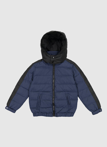 Vierra Rose Drew Contrast Sleeve Puffer in Navy - FINAL SALE