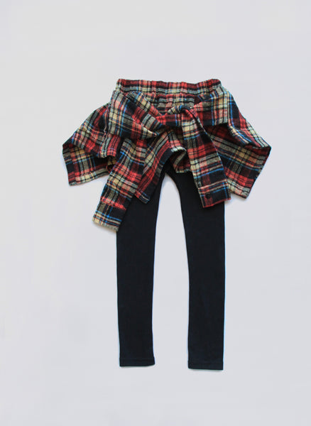 Vierra Rose Fiona Shirt Leggings in Plaid - FINAL SALE