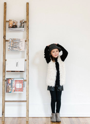 Vierra Rose Gail Furry Knitted Jacket - FINAL SALE