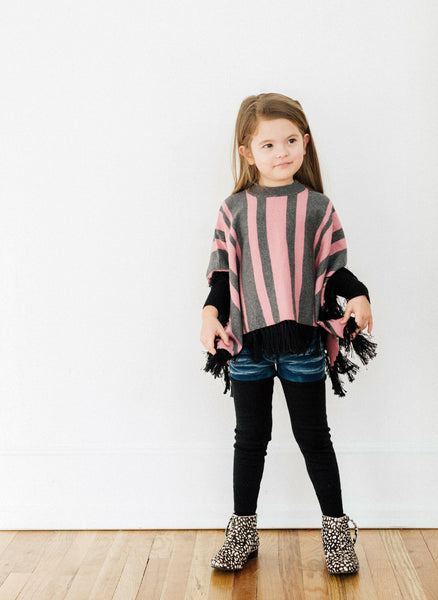 Vierra Rose Helka Stripe Poncho - FINAL SALE