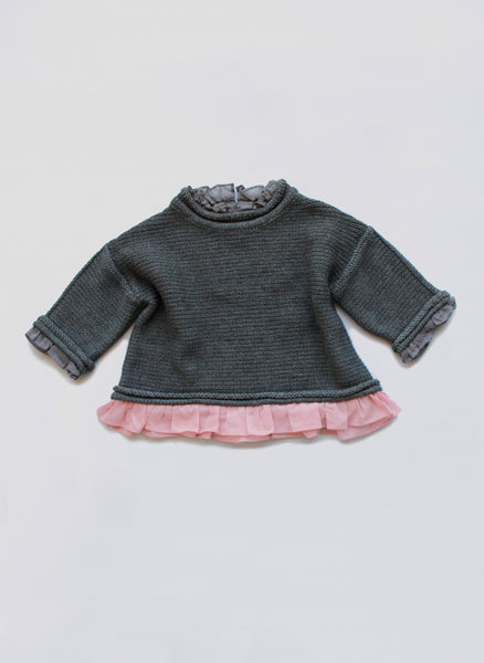 Vierra Rose Ines Sweater  in Grey - FINAL SALE