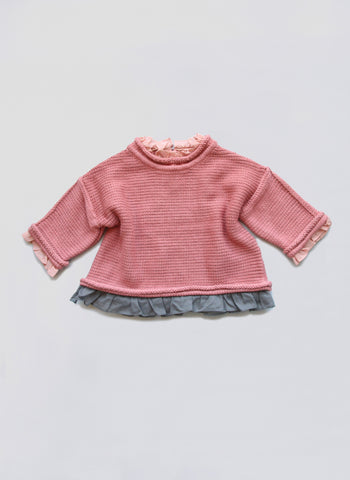 Vierra Rose Ines Sweater in New York Pink - FINAL SALE