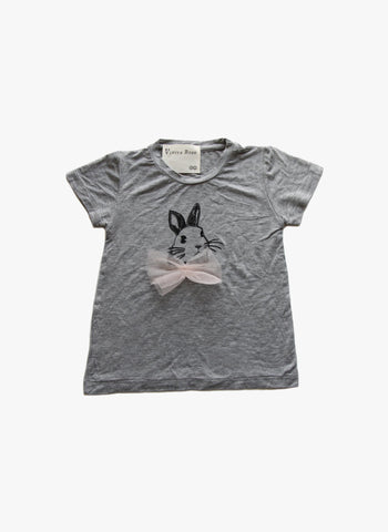 Vierra Rose Iris Bunny Tee in Grey - FINAL SALE