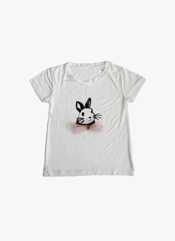 Vierra Rose Iris Bunny Tee in Ivory - FINAL SALE