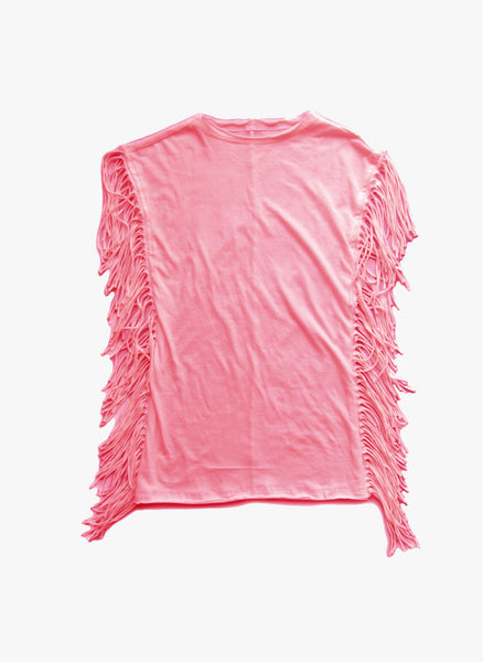 Vierra Rose Jeanna Fringe Dress in Cupcake Pink - FINAL SALE