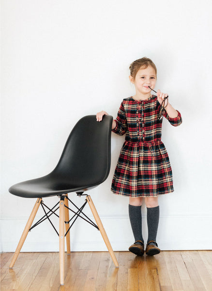 Vierra Rose Karina Dress in Plaid - FINAL SALE