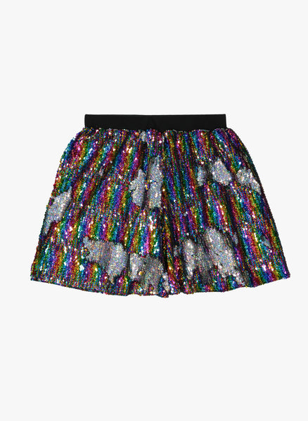 Vierra Rose Kate Sequin Skirts in Rainbow Reversible Sequins - FINAL SALE