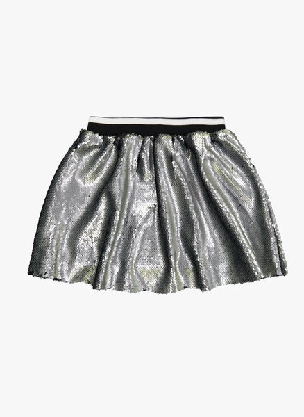 Vierra Rose Kate Sequin Skirts in Silver/Black Reversible Sequins - FINAL SALE