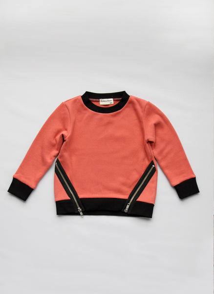 Vierra Rose Kayla Zipper Sweatshirts in Rosee - T1029 - FINAL SALE
