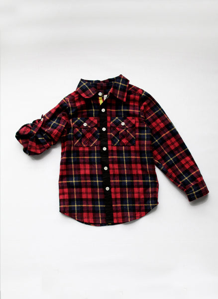 Vierra Rose Lenox Pocket Shirt in Red Plaid - T1007 - FINAL SALE