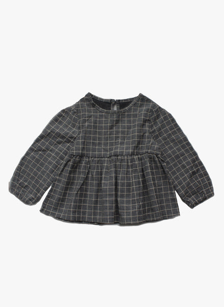 Vierra Rose Lyla Checkered Top in Grey - FINAL SALE