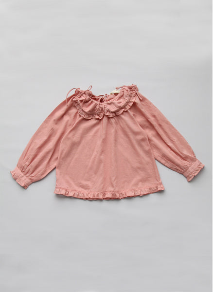 Vierra Rose Marion Ruffle Shirt in Dusty Rose -T1028 - FINALE SALE