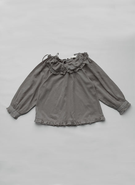 Vierra Rose Marion Ruffle Shirt in Grey -T1028 - FINALE SALE