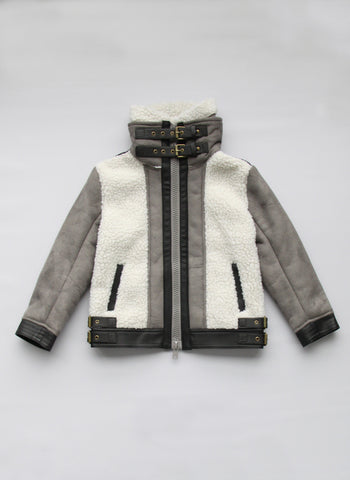 Vierra Rose Mckenzie Jacket in Grey - FINAL SALE