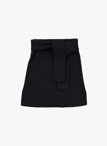 Vierra Rose Michiyo Sweater Tie Skirt in Black - FINAL SALE