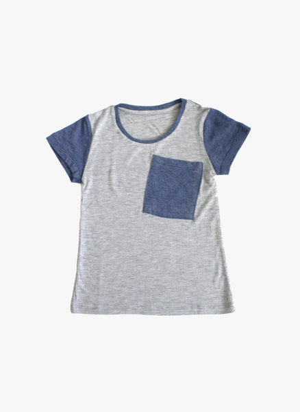 Vierra Rose Miles Colorblock Tee in Grey - FINAL SALE