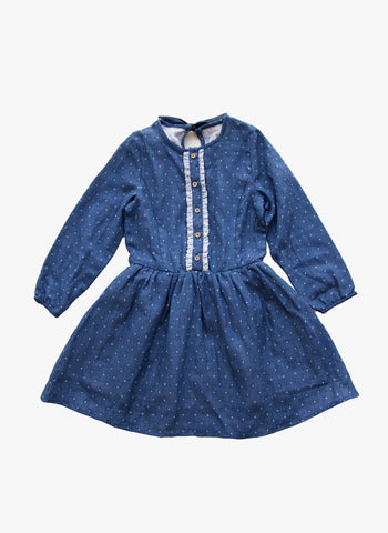 Vierra Rose Miranda Shirt Dress in Blue Dot - FINAL SALE