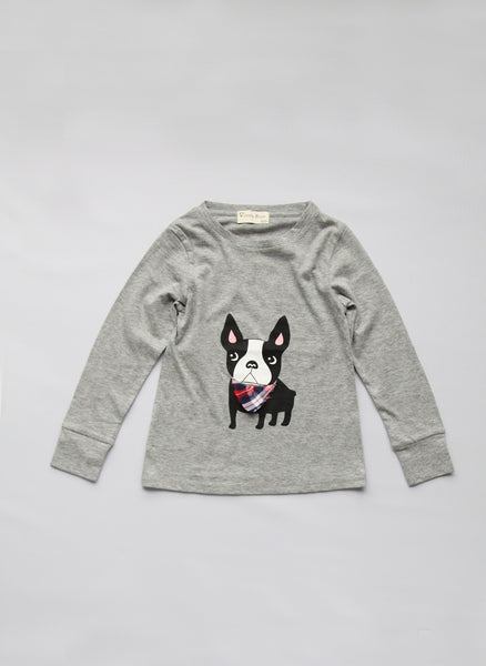 Vierra Rose Nico Bulldog Tee in Grey - T1035