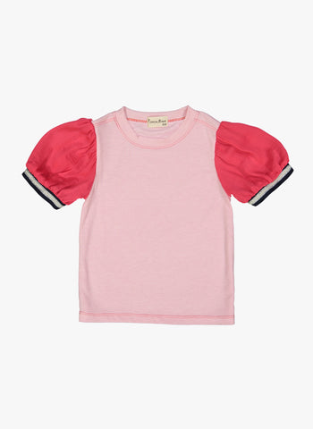 Vierra Rose Nola Puff Sleeve Top in Pink - FINAL SALE