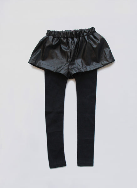 Vierra Rose Odell Faux Leather Shorts Leggings - FINAL SALE