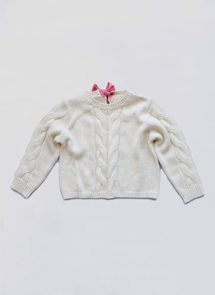Vierra Rose Raine Big Cable Sweater in Daisy - FINAL SALE