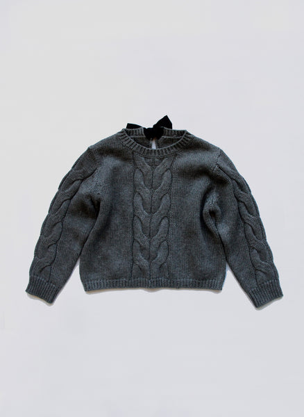 Vierra Rose Raine Big Cable Sweater in Grey - FINAL SALE
