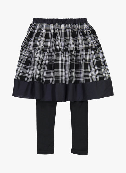 Vierra Rose Sandra Skirt Leggings in Black Plaid - FINAL SALE