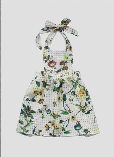 Vierra Rose Tanya Apron Dress in Garden Floral - FINAL SALE