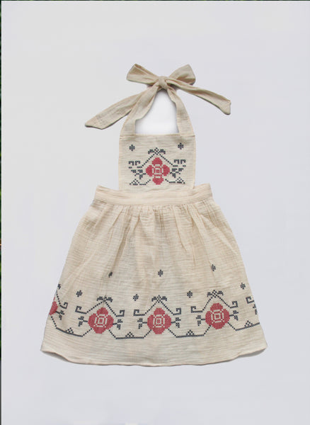 Vierra Rose Tanya Apron Dress in Natural - FINAL SALE