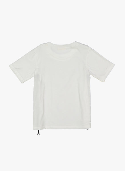 Vierra Rose Tia Zipper Side Tee in White - FINAL SALE