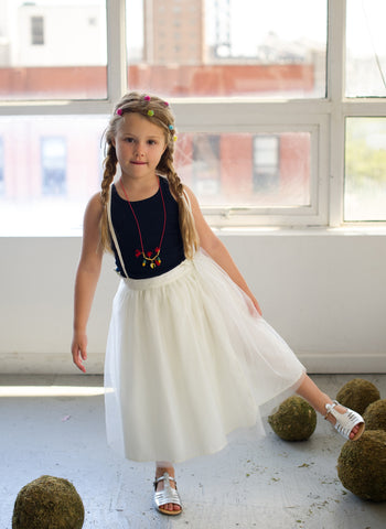 Vierra Rose Tiana Tutu Skirt in Cream Tulle - FINAL SALE