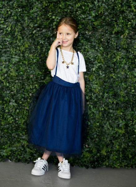 Vierra Rose Tiana Tutu Skirt in Navy Tulle - FINAL SALE