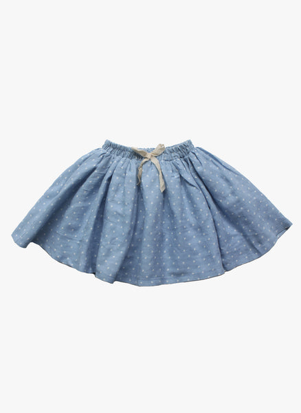 Vierra Rose Vienna Gathered Skirt in Star Chambray - FINAL SALE