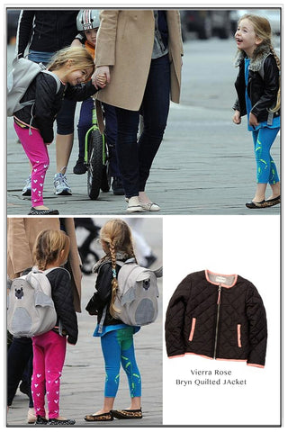 Vierra Rose Bryn Quilted Jacket as seen on Sarah Jessica Parker's twins