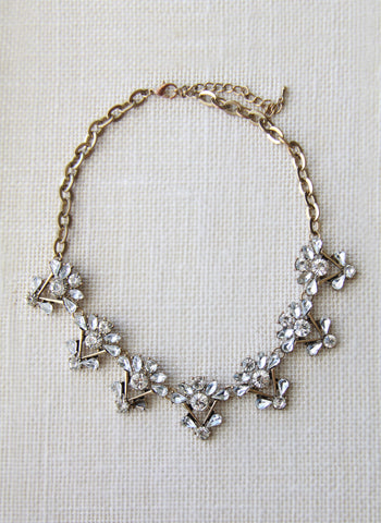 Wanderlust Floral Deco Gold Necklace - FINAL SALE