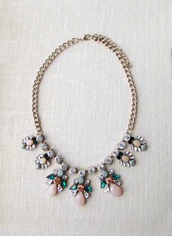 Wanderlust Floral Drops Rose Necklace - W-N244RO