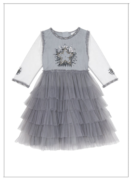 Wild and Gorgeous Moon Dance Dress in Grey