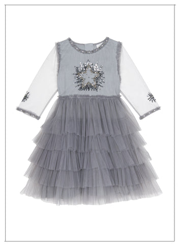 Wild and Gorgeous Moon Dance Dress in Grey - FINAL SALE