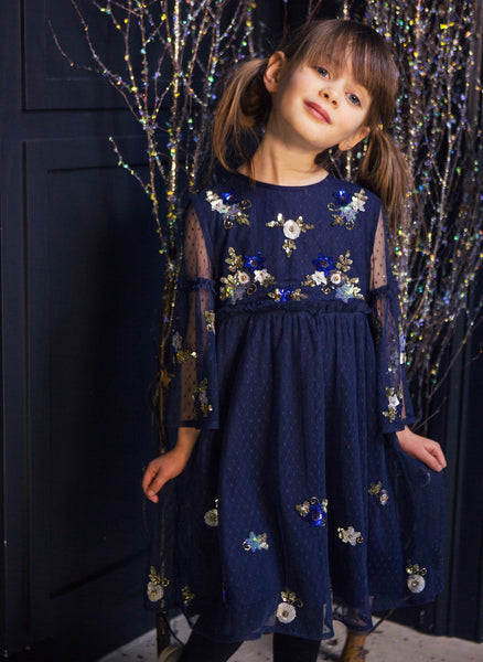 Wild and Gorgeous Netty Betty Dress in Navy - FINAL SALE