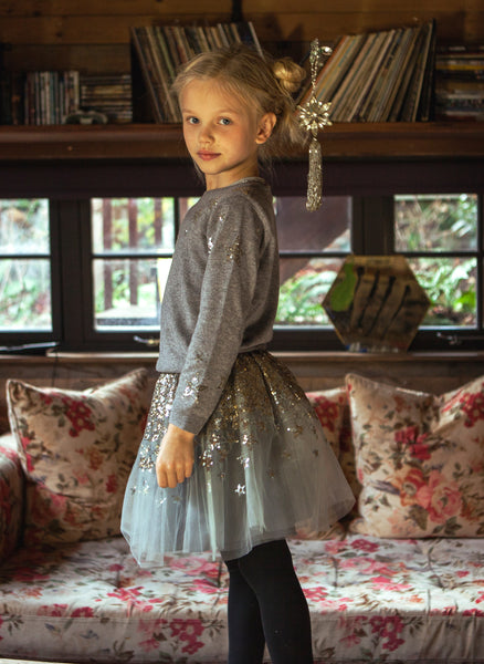 Wild and Gorgeous Solstice Skirt in Dusty Blue - FINAL SALE