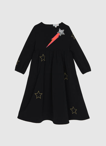 Wild and Gorgeous Stars in your eyes Dress in Black - FINAL SALE