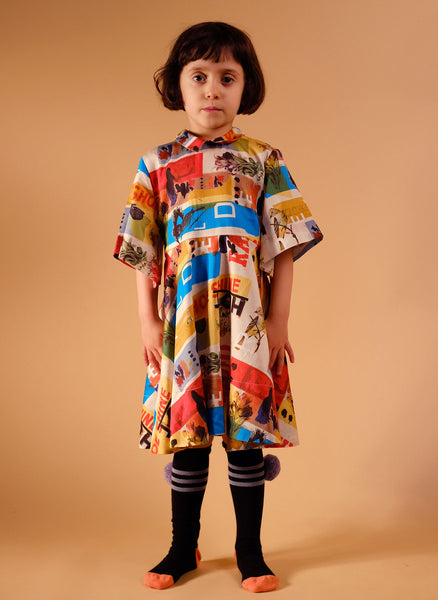 Wolf and Rita Alice Dress in Mister W Print - FINAL SALE