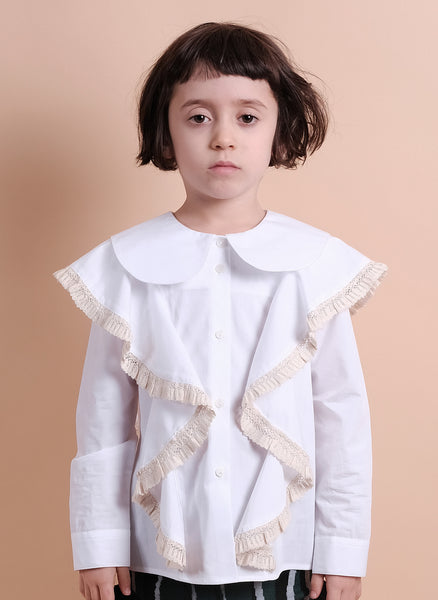 Wolf and Rita Girls Rebeca Blouse in White - FINAL SALE