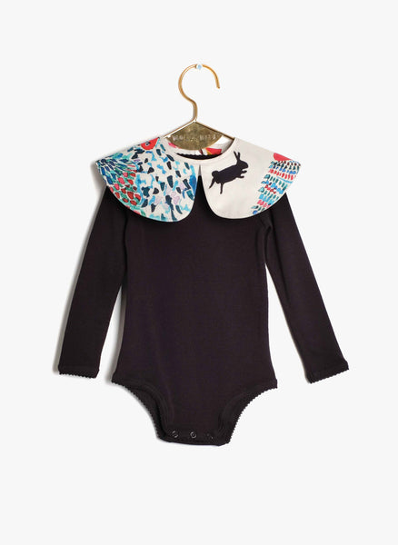 Wolf and Rita Baby Aurora Bodysuit in Masquerade Print - FINAL SALE