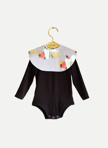 Wolf and Rita Baby Aurora Bodysuit in Black